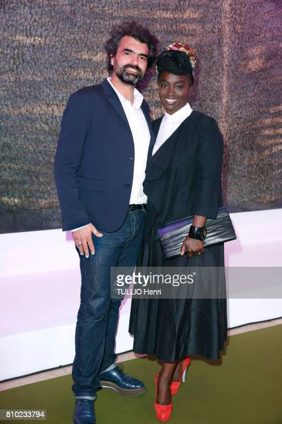 at the dinner of the Maurice Amon Foundation at the Museum of Modern Art of the City of Paris AÆssa Maiga and Geraud PinBarras on june 7 2017 in...