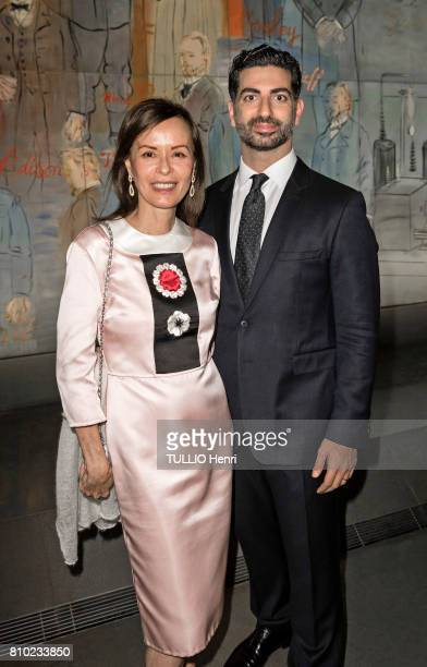 at the dinner of the Maurice Amon Foundation at the Museum of Modern Art of the City of Paris Almine RechPicasso AND Fahd Hariri on june 7 2017 in...