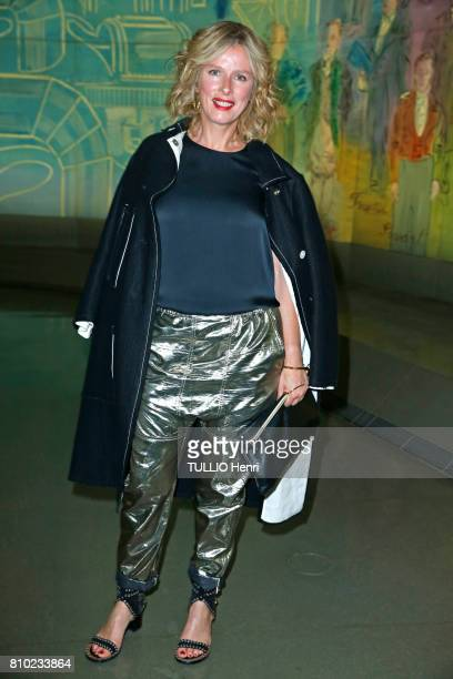 at the dinner of the Maurice Amon Foundation at the Museum of Modern Art of the City of Paris Karin Viard on june 7 2017 in Paris France Karin Viard
