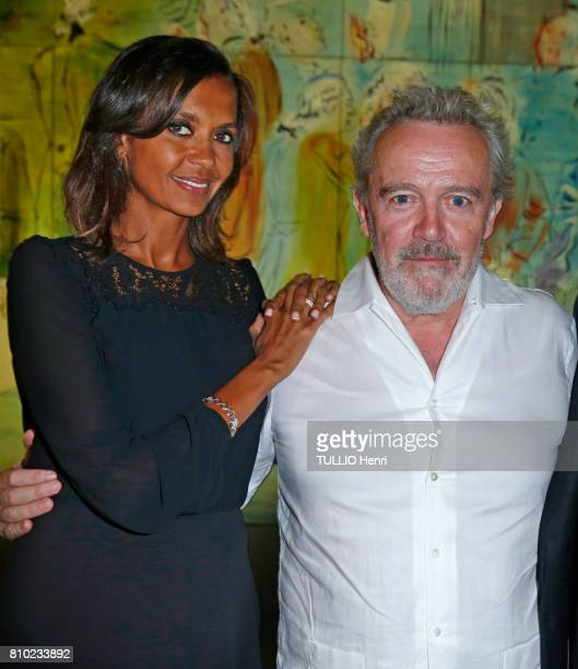 at the dinner of the Maurice Amon Foundation at the Museum of Modern Art of the City of Paris Karine Le Marchand and the chef of l'Arpege Alain...