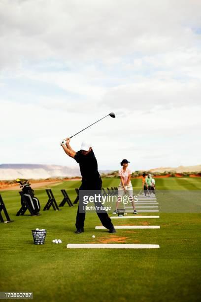 のゴルフ練習場