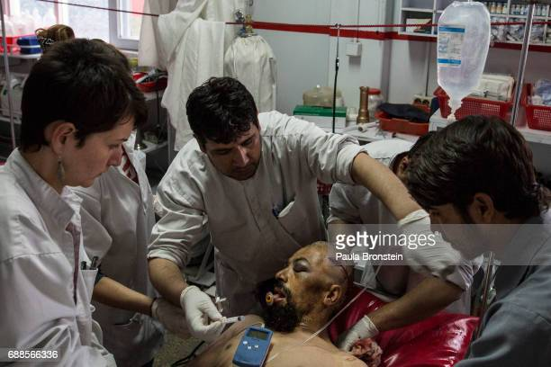 At the Emergency hospital multiple patients are treated in the OPD emergency area after a bomb blast 'nAs of April 2016 the Emergency hospital stated...