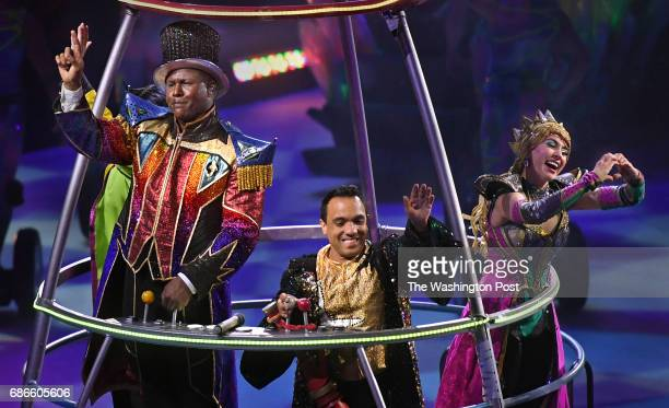 At the end of the show Ringmaster Jonathan Lee Iverson fighting emotion told the crowd 'Thank you for being a part a part of history' With him waving...