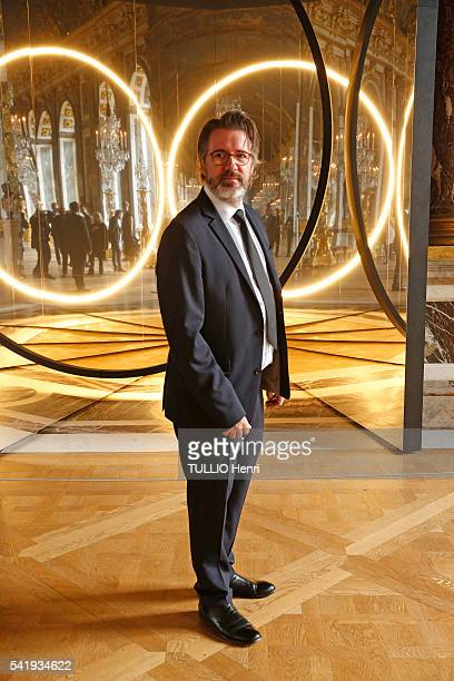 at the evening gala at the Chateau de Versailles for the opening of the exhibition Olafur Eliassion the artist in front of work Your Sense of Unity'...