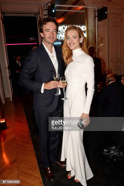 at the evening gala for the 10th anniversary of the jewelery Messika for the collection Move Antoine Arnault and Natalia Vodianova are photographed...