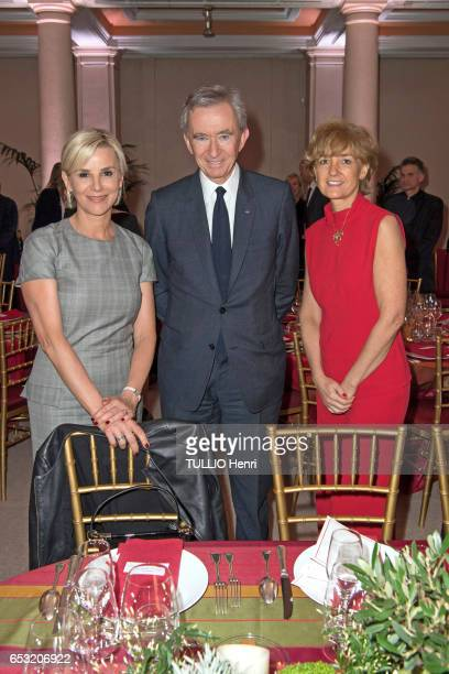 at the evening gala for the 10th anniversary of the Prince Albert II de Monaco Foundation Laurence Ferrari Bernard Arnault and Isabelle Juppe pose...