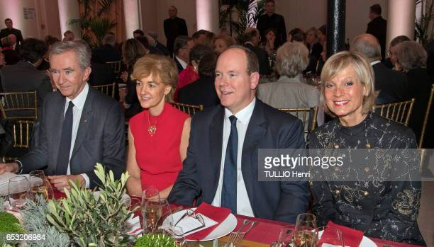 at the evening gala for the 10th anniversary of the Prince Albert II de Monaco Foundation Bernard Arnault Isabelle Juppe the Prince Albert II de...