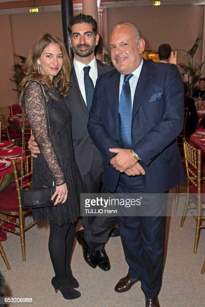 at the evening gala for the 10th anniversary of the Prince Albert II de Monaco Foundation Maya and Fadh Hariri and Maurice Amon pose for Paris Match...
