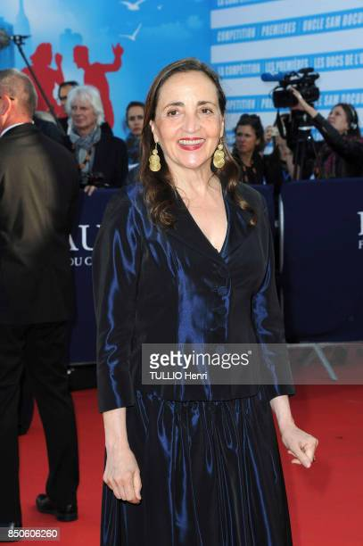 at the evening gala for the 43th American Film Festival Dominique Blanc is photographed for Paris Match on september 01 2017 in Deauville France