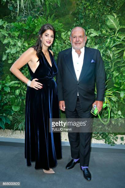 at the evening gala for the Bienniale Antiques 2017 at the Grand Palais Tatiana de Pahlen and Maurice Amon are photographed by Paris Match on...
