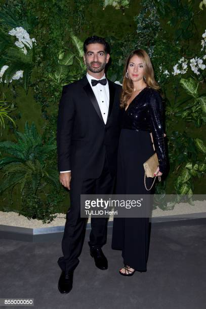 at the evening gala for the Bienniale Antiques 2017 at the Grand Palais Fahd and Maya Hariri are photographed by Paris Match on september 09 2017 in...