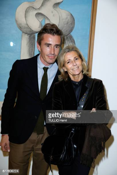 at the evening gala for the inauguration of the exhibition Picasso 1932 Annee Erotique Nicolas Escoulan and Claire Chazal are photographed for Paris...