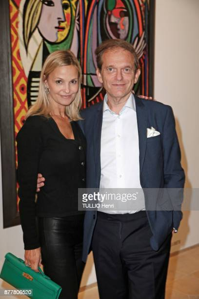 at the evening gala for the inauguration of the exhibition Picasso 1932 Annee Erotique Marie and Frederic Saldmann are photographed for Paris Match...