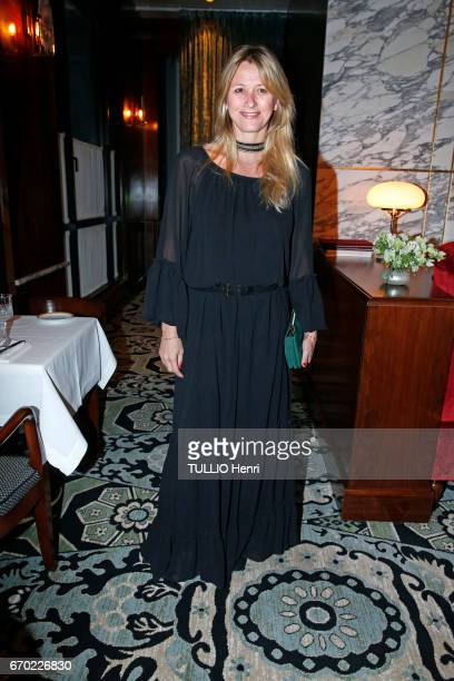 at the evening gala for the new restaurant Noto Sarah Lavoine poses for Paris Match on march 29 2017 in Paris France