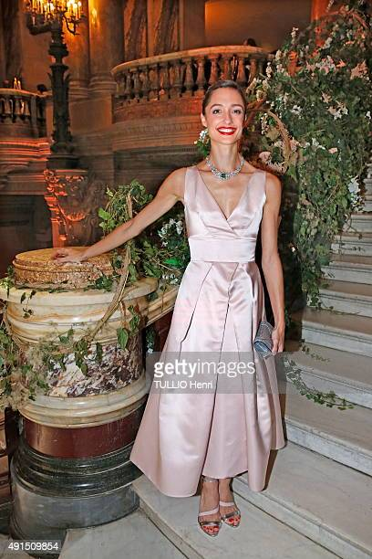 at the evening gala for the opening of the new season 20152016 at the Opera of Paris Dorothée Gilbert is photographed for Paris Match on september 24...
