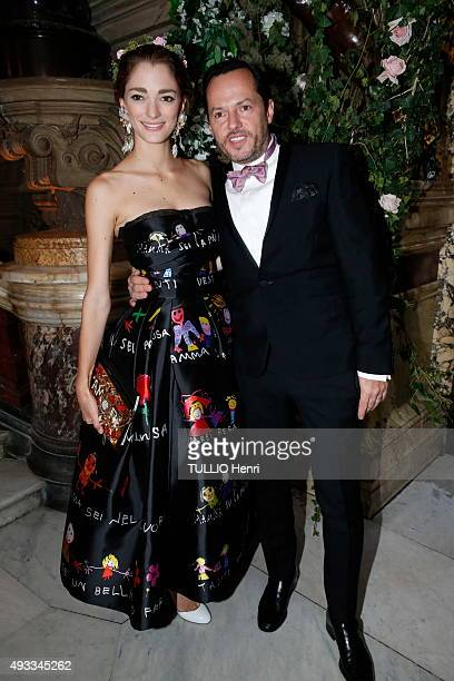 at the evening gala for the opening of the new season 20152016 at the Opera of Paris Alexandre de Betak with his wife Sofia are photographed for...