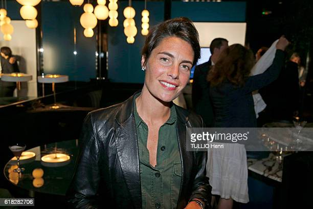 at the evening gala for the opening of the Roch Hotel Spa decorated by Sarah Lavoine Alessandra Sublet poses for Paris Match on september 15 2016 in...