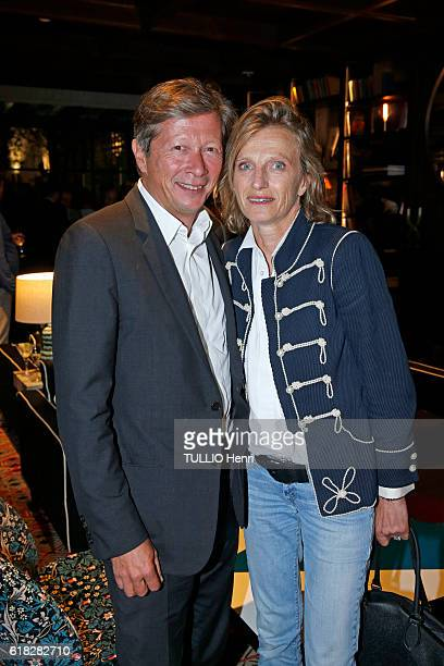 at the evening gala for the opening of the Roch Hotel Spa decorated by Sarah Lavoine Jérôme and Emmanuelle de Noirmont pose for Paris Match on...