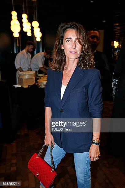at the evening gala for the opening of the Roch Hotel Spa decorated by Sarah Lavoine Mademoiselle Agnes poses for Paris Match on september 15 2016 in...
