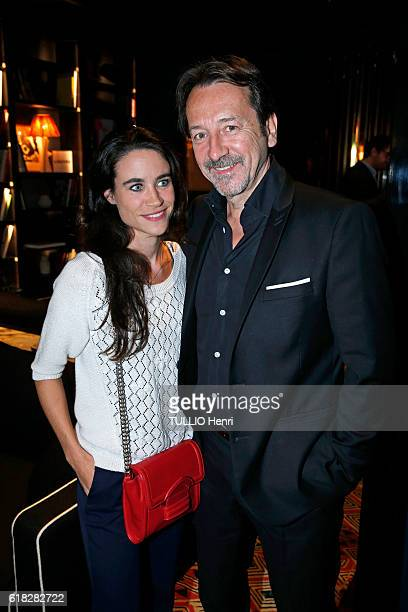at the evening gala for the opening of the Roch Hotel Spa decorated by Sarah Lavoine Charlotte Leloup and JeanHugues Anglade pose for Paris Match on...