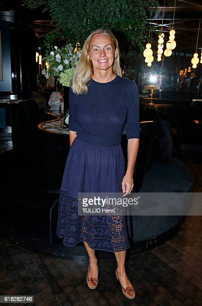 at the evening gala for the opening of the Roch Hotel Spa decorated by Sarah Lavoine Gabriella Cortese poses for Paris Match on september 15 2016 in...