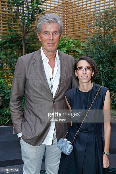 at the evening gala for the opening of the Roch Hotel Spa decorated by Sarah Lavoine Dominique Desseigne and Celia Cornu pose for Paris Match on...