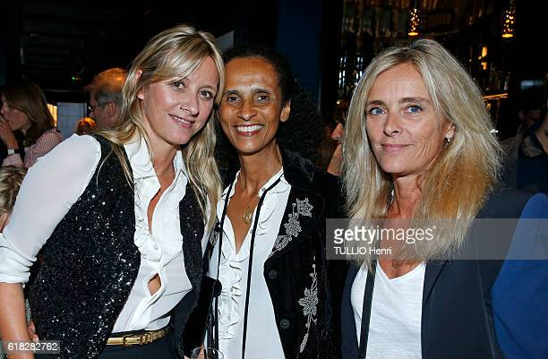 at the evening gala for the opening of the Roch Hotel Spa decorated by Sarah Lavoine Karine Silla Sarah Lavoine and Marie Poniatowski pose for Paris...