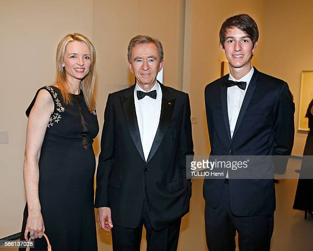 At the evening Gala Love Ball by Natalia Vodianova of her Naked Heart organization at Louis Vuitton Fondation Bernard Arnault with his childrens...