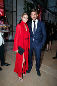 at the evening gala of AMFAR charity event to benefit the fight against AIDS at the hotel Peninsula Olivia Palermo with her husband Johannes Huebl...