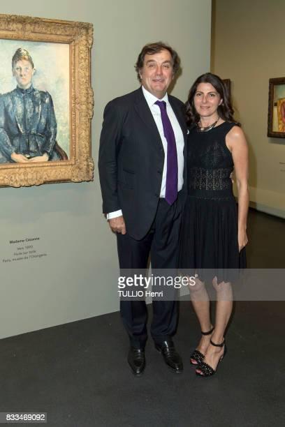 at the evening gala of Des Amis du Musee d'Orsay et de l'Orangerie Alexandre and Denise Vilgrain on june 19 2017 in Paris France