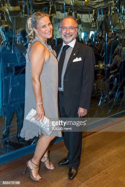 at the evening gala of Des Amis du Musee d'Orsay et de l'Orangerie Natacha and Olivier Dassault on june 19 2017 in Paris France
