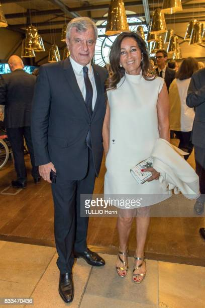 at the evening gala of Des Amis du Musee d'Orsay et de l'Orangerie Sidney and Katia Toledano on june 19 2017 in Paris France
