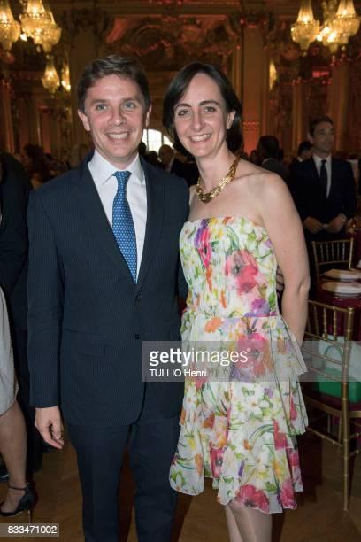 at the evening gala of Des Amis du Musee d'Orsay et de l'Orangerie Pierre and Alix de la Rochefoucauld on june 19 2017 in Paris France