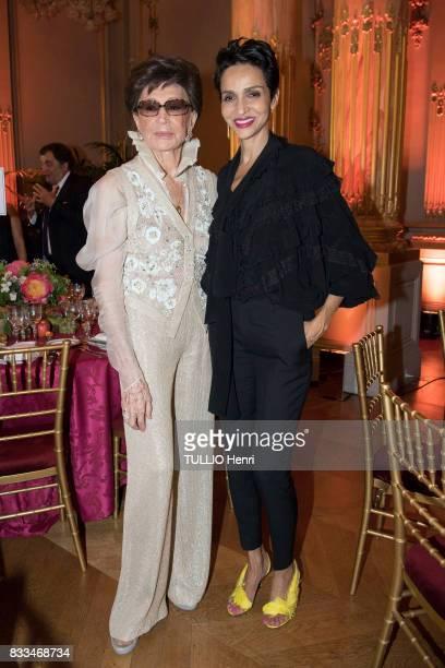 at the evening gala of Des Amis du Musee d'Orsay et de l'Orangerie Jacqueline de Ribes and Farida KhelfaSeydoux on june 19 2017 in Paris France