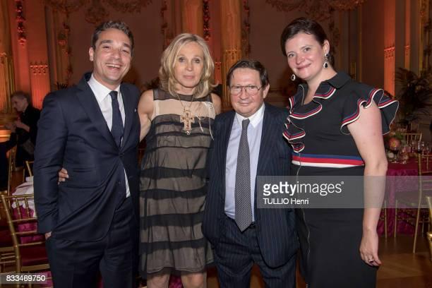 at the evening gala of Des Amis du Musee d'Orsay et de l'Orangerie Charles de Yturbe Brigitte and Gerald de Roquemaurel and Noémie de Yturbe on june...
