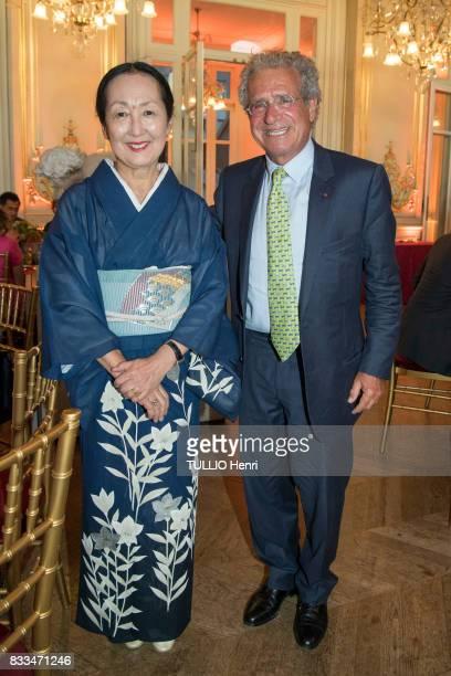 at the evening gala of Des Amis du Musee d'Orsay et de l'Orangerie Setsuko Klossowska de Rola and Laurent Dassault Adelaide de ClermontTonnerre on...