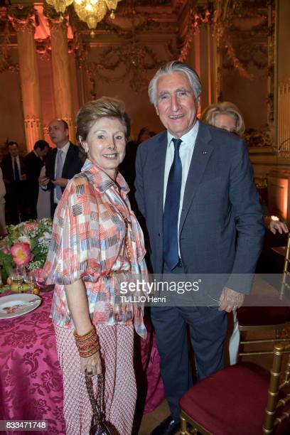at the evening gala of Des Amis du Musee d'Orsay et de l'Orangerie MarieLouise de ClermontTonnerre and ErnestAntoine Seilliere on june 19 2017 in...