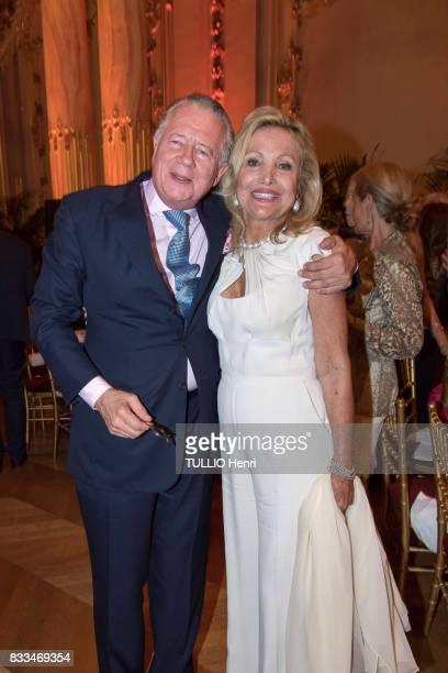 at the evening gala of Des Amis du Musee d'Orsay et de l'Orangerie Jean de Ribes and Silvia de Waldner on june 19 2017 in Paris France