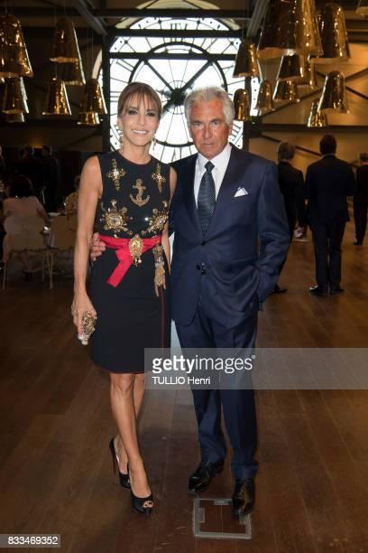 at the evening gala of Des Amis du Musee d'Orsay et de l'Orangerie Patricia d'Arenberg and JeanPaul Enthoven on june 19 2017 in Paris France