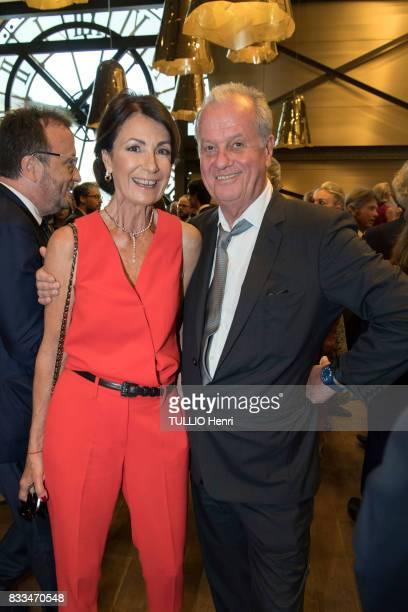 at the evening gala of Des Amis du Musee d'Orsay et de l'Orangerie Valerie Breton and Jacques Grange on june 19 2017 in Paris France