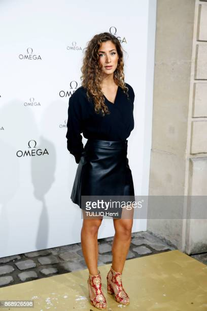 at the evening gala of the jewelery Omega the french actress Manon Azem is photographed for Paris Match on september 29 2017 in Paris France
