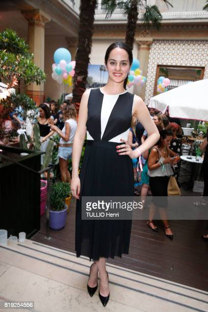 at the evening gala Palm Springs 60's at the Hotel Prince de Galles Noémie Merlant poses for Paris Match on june 15 2017 in Paris France