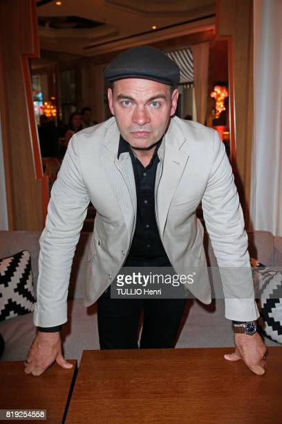 at the evening gala Palm Springs 60's at the Hotel Prince de Galles Clovis Cornillac poses for Paris Match on june 15 2017 in Paris France