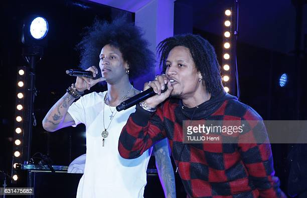 at the evening gala Sauver la vie of the Foundation Paris Descartes the group Les Twins with Laurent and Larry Bourgeois on november 30 2016 in Paris...