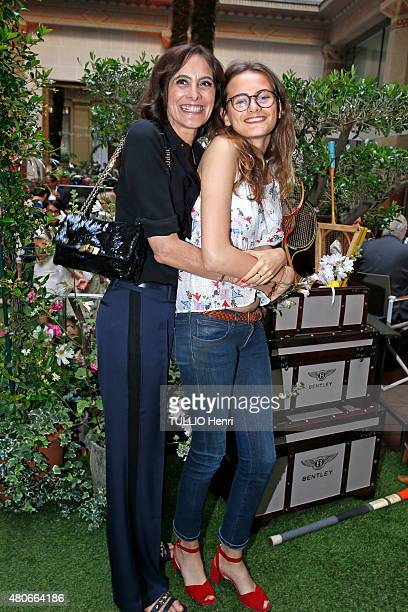 at the evening gala White Party at the Hotel Prince de Galles Ines de la Fressange and her daughter Violette d'Urso are photographed for Paris Match...