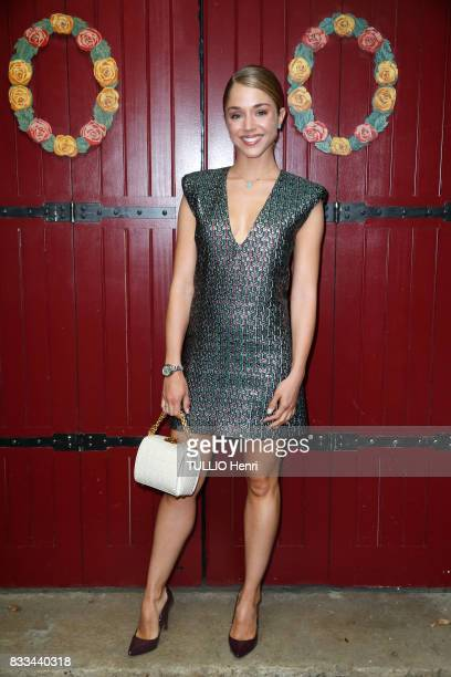 at the evening of the jeweler Chaumet Alice Isaaz on july 02 2017 in Paris France