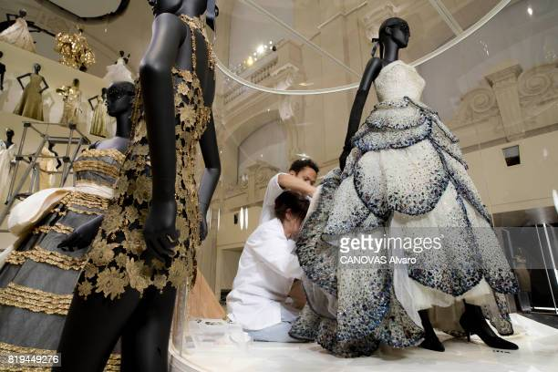 at the exhibition 'Christian Dior Celebrates 70 Years of Creation' at the Musee des Arts a dress on june 28 2017 in Paris France Photo by Alvaro...