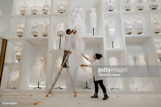 at the exhibition 'Christian Dior Celebrates 70 Years of Creation' at the Musee des Arts the dresses on june 28 2017 in Paris France Photo by Alvaro...