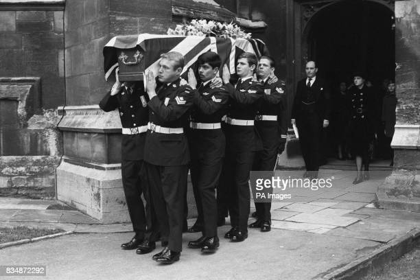 At the funeral of Lady Patricia Ramsay Queen Victoria's granddaughter at St George's Chapel Windsor members of of Princess Patricia's Canadian Light...