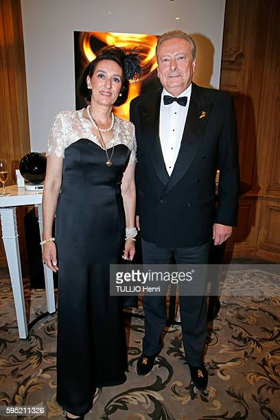 at the hotel George V Four seaons in Paris evening gala for the perfums The Harmonist by Lola KarimovaTillyaeva on July 7 2016 Tania de Bourbon Parme...